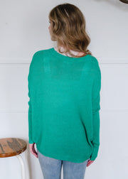 My Cozy Light Knit Sweater (Green)