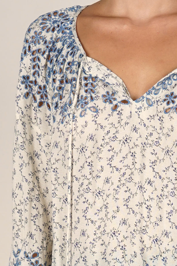 Lovetsitch Floral Peasant Blouse