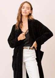 Lovestitch Cable Knit Cardigan (Black)