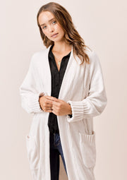 Lovestitch Cable Knit Cardigan (Vanilla)