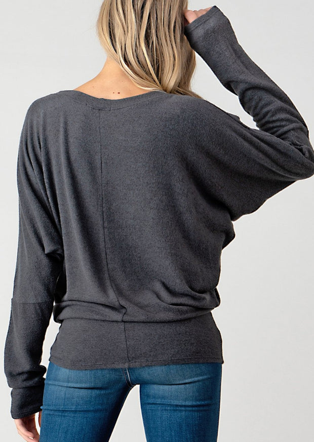 Natural Vibe Brushed Top (Charcoal)