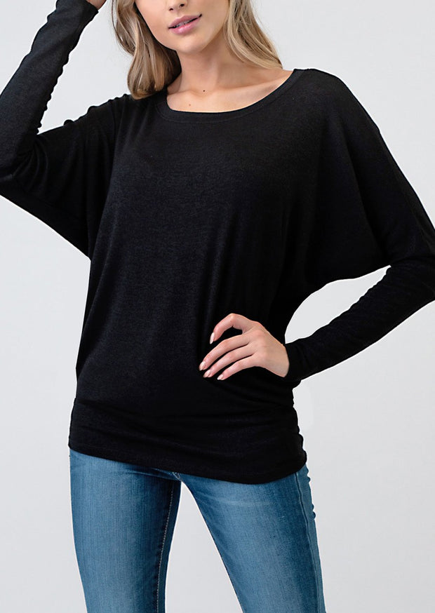 Natural Vibe Knit Long Sleeve (Black)