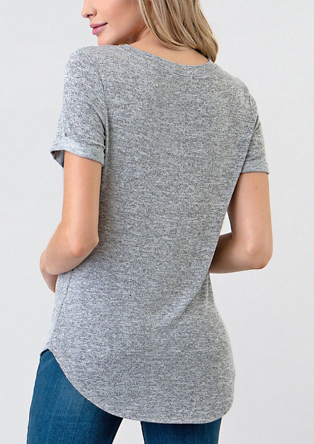 Natural Vibe Everyday Tee (Heather Grey)
