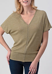Natural Life Soft V Tee (Light Olive)