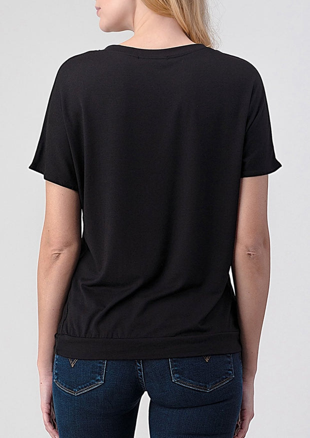 Natural Vibe Twisty Tee (Black)