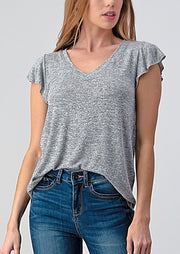 Natural Vibe Flutter Tee (Heather Grey)