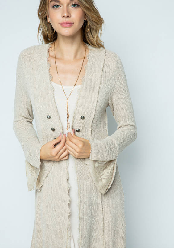 Vocal Macy Cardigan (Natural)