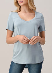 Natural Vibe Modal Tee (Blue Fog)