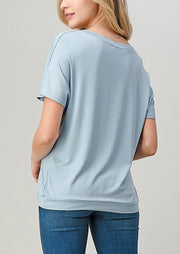 Natural Vibe Twisty Tee (Blue Fog)