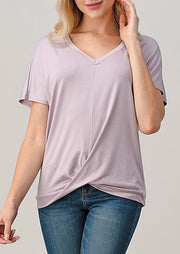 Natural Vibe Twisty Tee (Lilac)