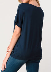 Natural Vibe Twisty Tee (Navy)