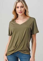 Natural Vibe Twisty Tee (Olive)