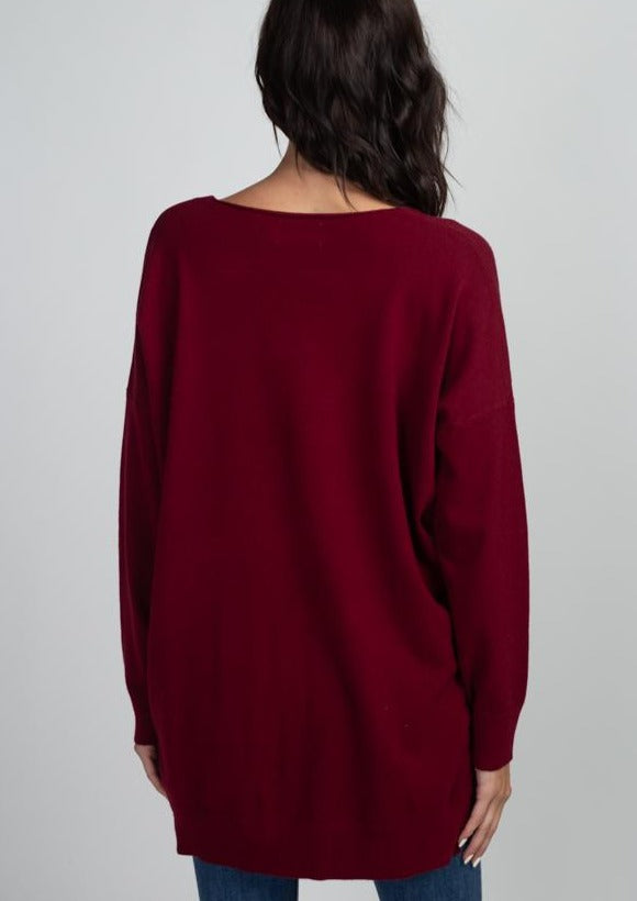 Comfy As Can Be Sweater (Burgundy)
