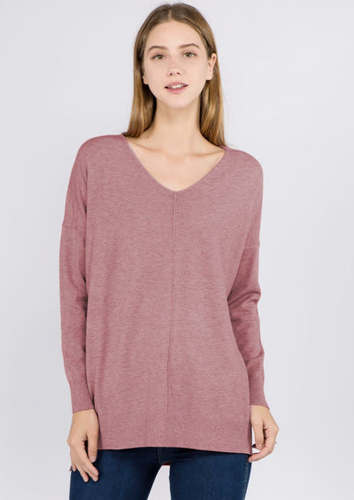 Comfy As Can Be Sweater (Dust Rose)