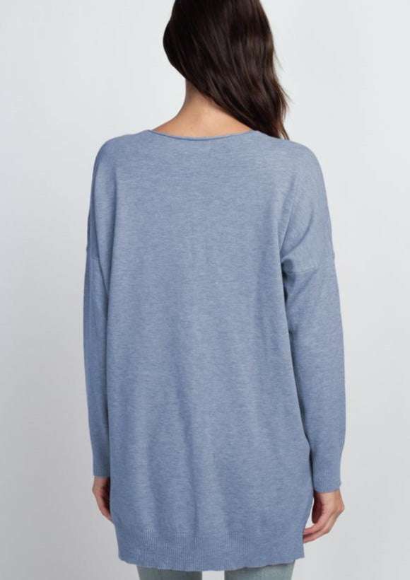 Comfy As Can Be Sweater (Powder Blue)