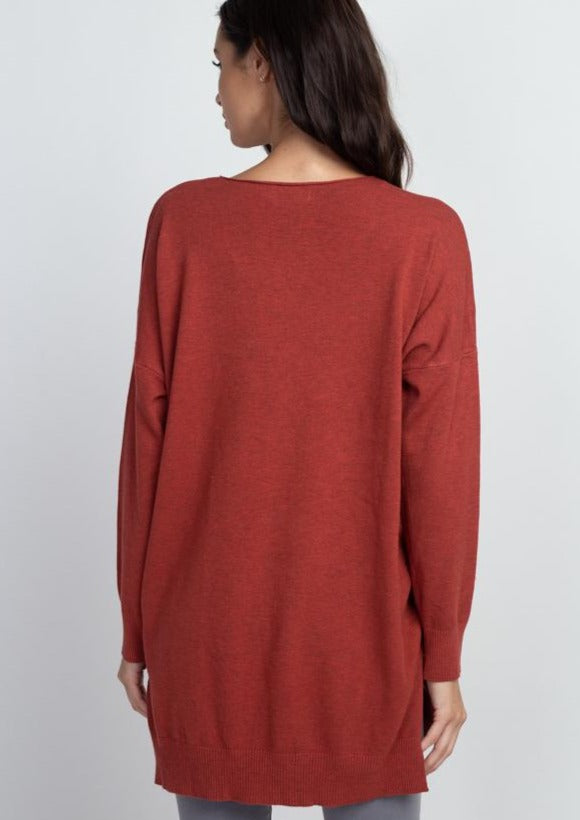 Comfy As Can Be Sweater (Red Rust)