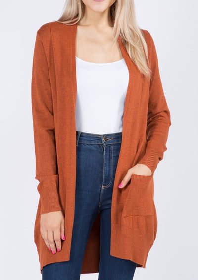 Dreamy Lightweight Cardigan (Heather Bronze)
