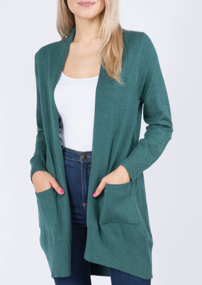 Dreamy Lightweight Cardigan (Heather Juniper)
