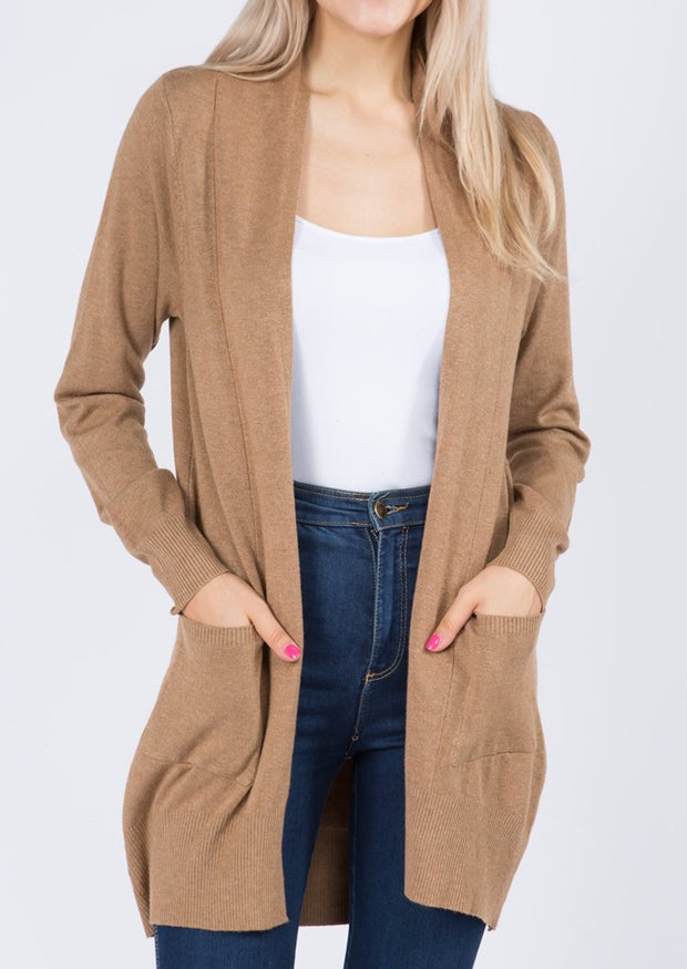 Dreamy Lightweight Cardigan (Heather Latte)