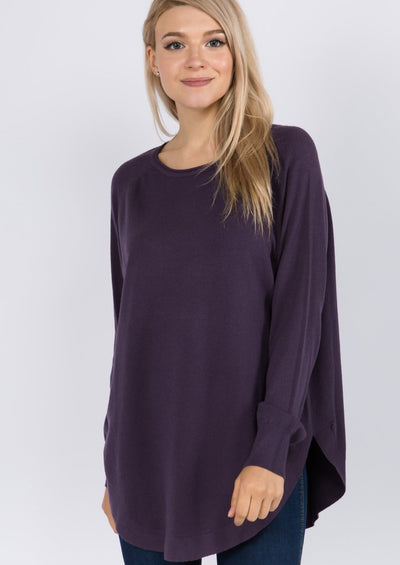 Dreamy Boatneck Sweater (Blackberry)