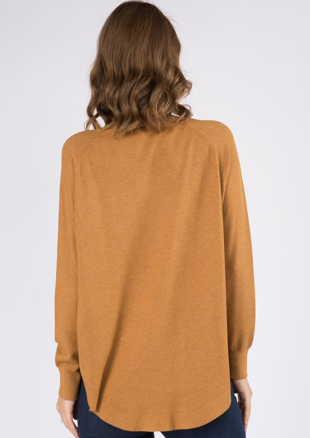 Dreamy Boatneck Sweater (Dark Mustard)