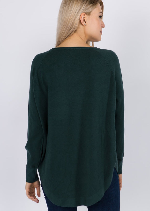 Dreamy Boatneck Sweater (Juniper)