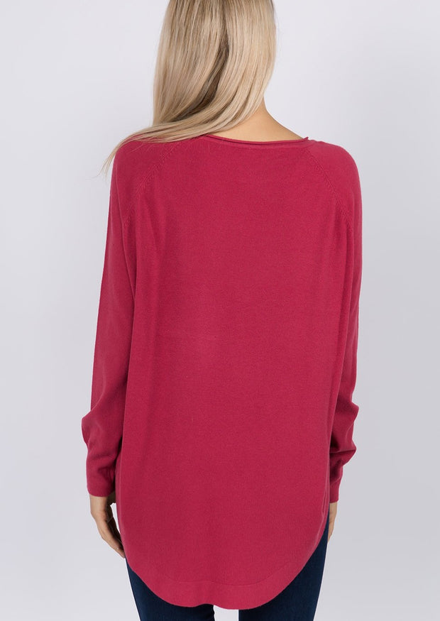 Dreamy Boatneck Sweater (Rouge)