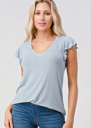 Natural Vibe Flutter Tee (Blue Fog)