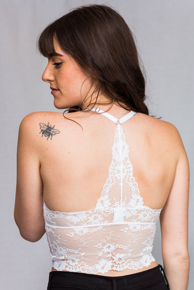 Dynamic Lace X Cross T Back Bralette