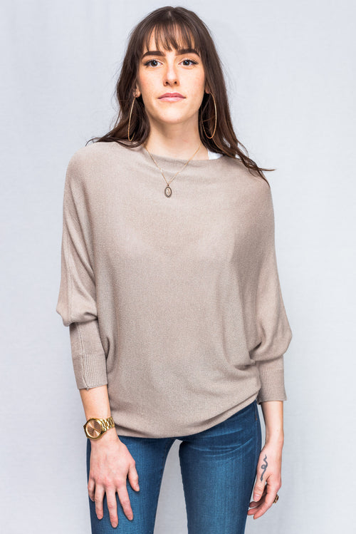 Catwalk Boatneck Sweater (Taupe)