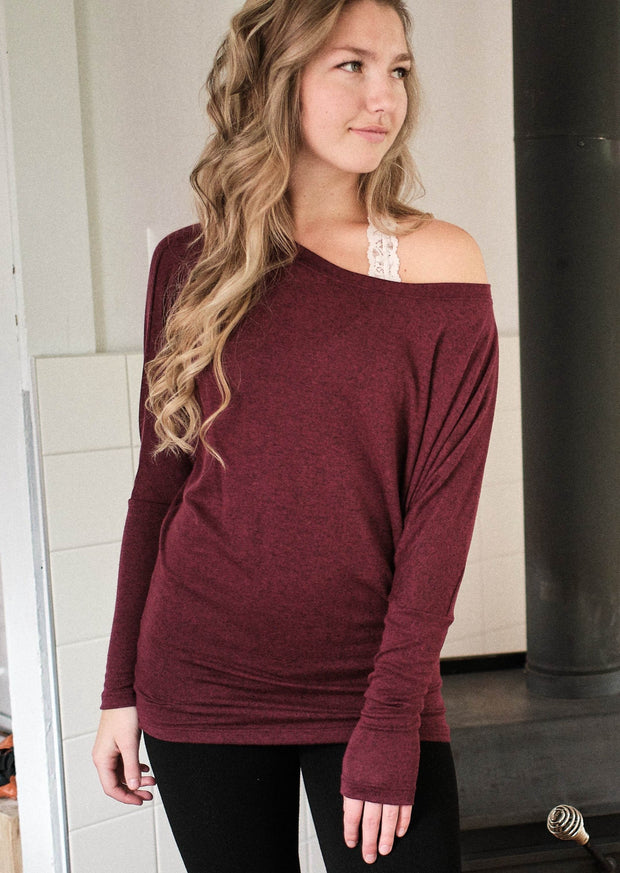 Natural Vibe Knit Long Sleeve (Apple Wine)