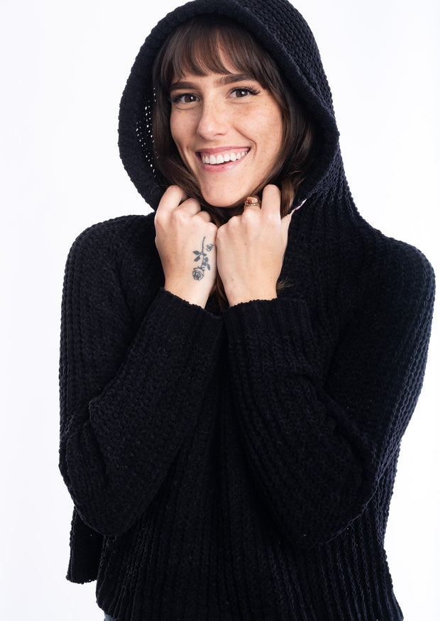 My Cozy Hooded Sweater (Black)
