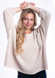 My Cozy Chunky Knit Sweater (Beige)