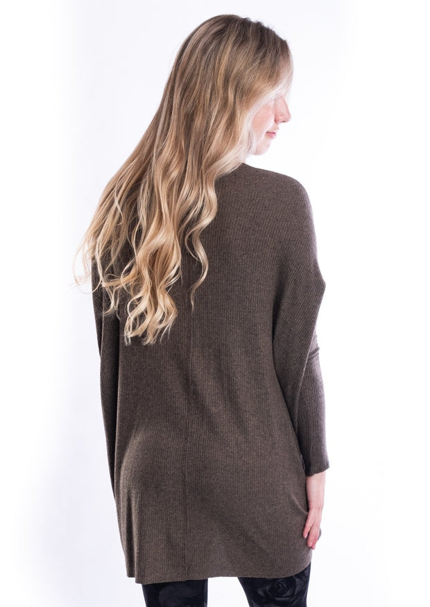 Freeloader Brush Knit Top (Olive)