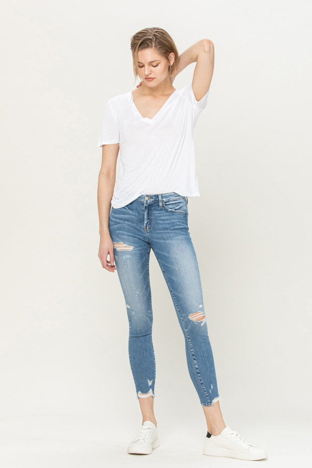 Flying Monkey Distressed Ankle Skinny