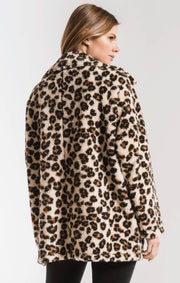 Z Supply Sherpa Teddy Bear Coat (Leopard)