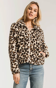 Z Supply Sherpa Crop Jacket (Leopard)
