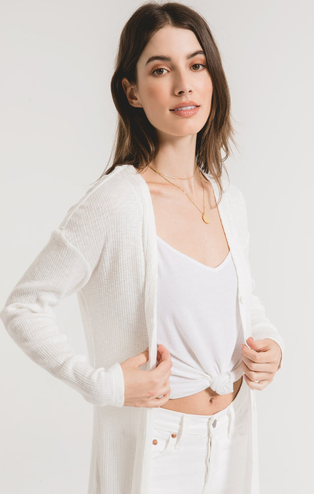 Z Supply Textured Rib Duster Cardigan