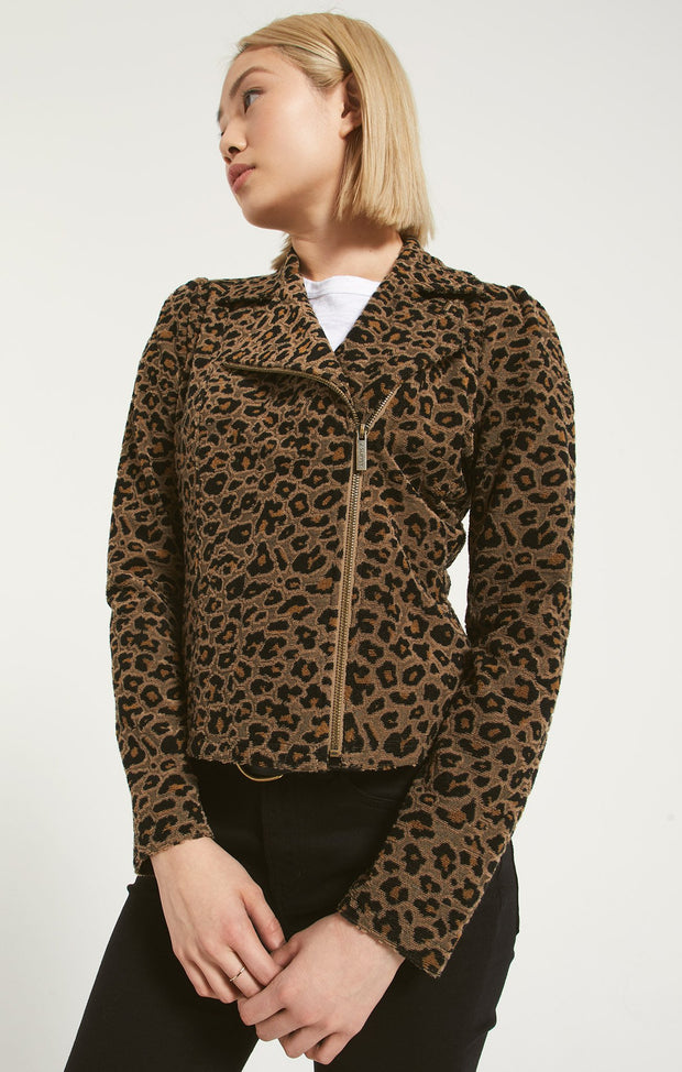Z Supply Leopard Jacquard Jacket
