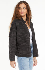 Z Supply Camo Quilted Jacket (Charcoal)