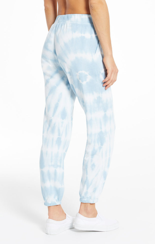 Z Supply Tie Dye Spiral Jogger (Blue Agave)