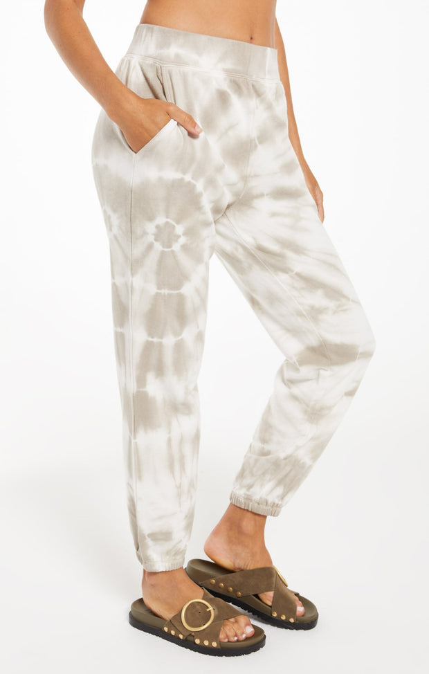 Z Supply Tie Dye Spiral Jogger (Taupe)