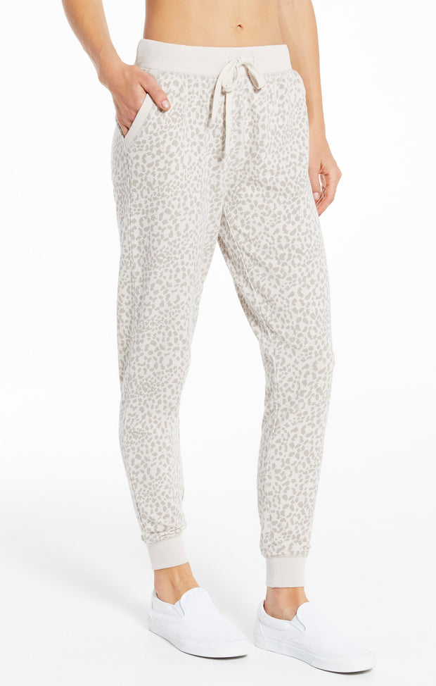 Z Supply White Leopard Jogger