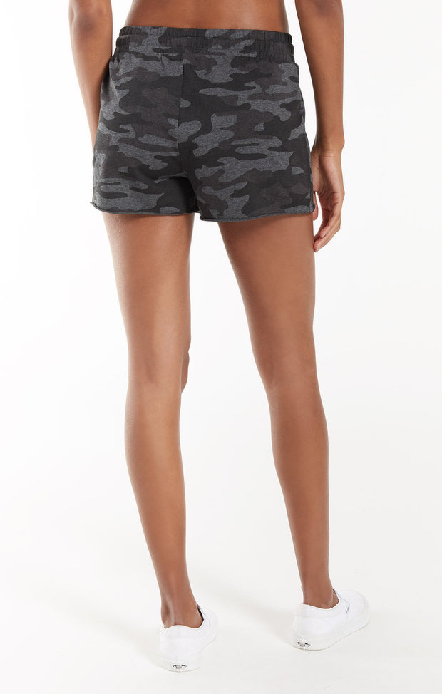 Z Supply Sporty Camo Short (Charcoal)