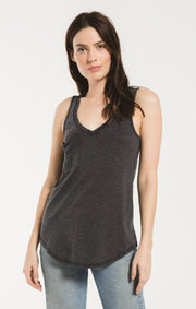 Z Supply Pocket Racer Tank (Washed Black)
