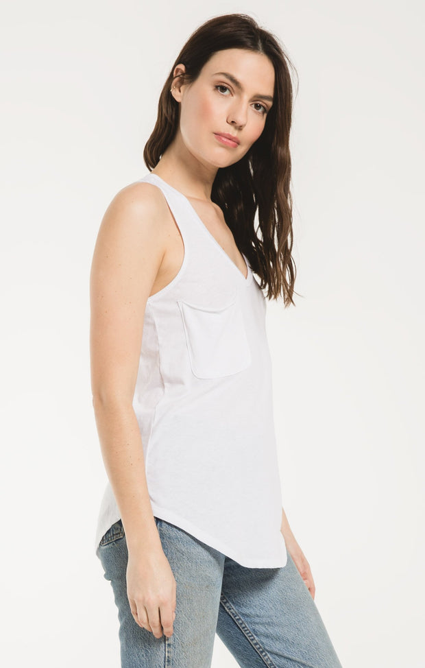 Z Supply Pocket Racer Tank (White)