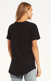Z Supply Cotton Slub Pocket Tee (Black)