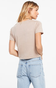 Z Supply Cropped Tee (Taupe)