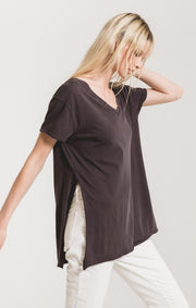 Z Supply Organic Cotton Side Slit Tunic (Graphite)