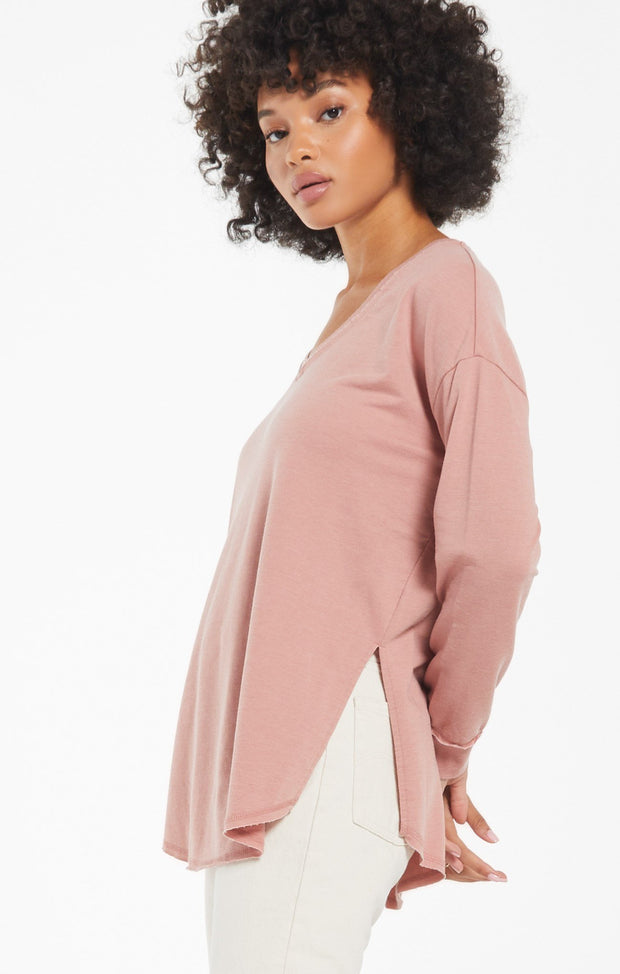 Z Supply V Neck Weekender (Wild Rose)